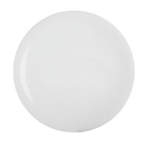 Denby - White bone china dinner plate