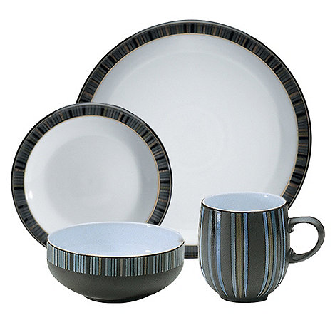 Denby - Jet striped sixteen piece Set