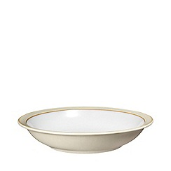 Denby - Cream and white 'Linen' serving bowl