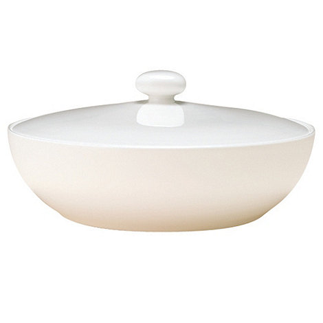 Denby - White bone china covered vegetable dish