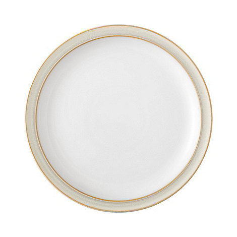 Denby - Cream and white +Linen+ dessert plate