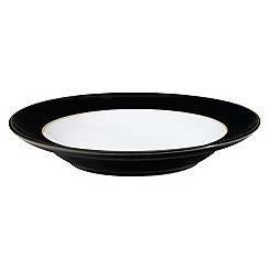Denby - Jet Black Shallow Rimmed Bowl