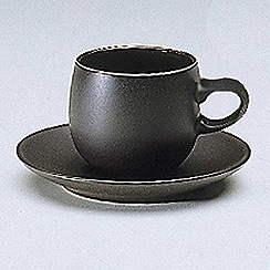 Denby - Jet black coffee saucer