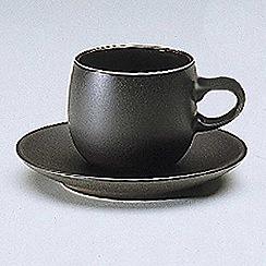 Denby - Jet black coffee saucer