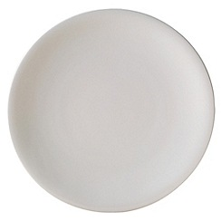 Denby - White bone china large dinner plate