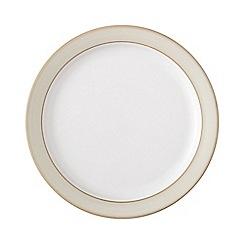 Denby - Cream and white 'Linen' tea plate