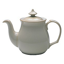 Denby - Cream and white 'Linen' teapot