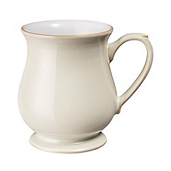 Denby - Cream and white 'Linen' craft mug