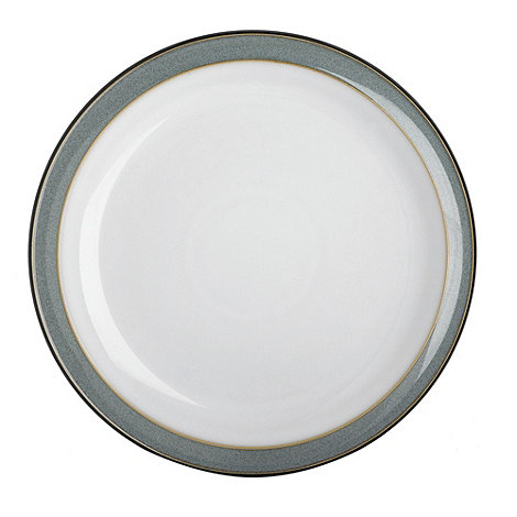 Denby - Grey glazed +Jet+ dessert plate