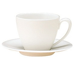Denby - White bone china espresso saucer