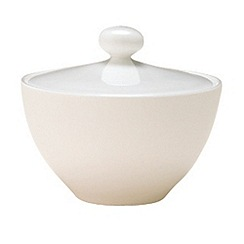 Denby - White bone china sugar bowl