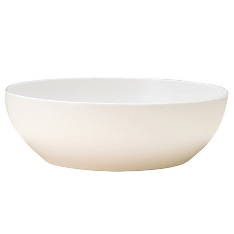 Denby - White bone china large salad bowl