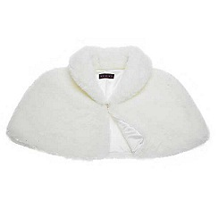 Debut - Ivory faux fur cape