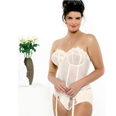 Goddess Ivory embroidered basque product image