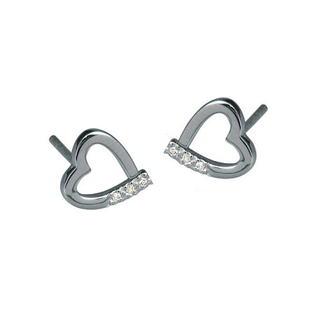 Hot Diamonds - Silver 'memories' earrings