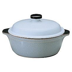 Denby - Jet grey small casserole dish