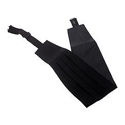 Black Tie - Black silk cummerbund