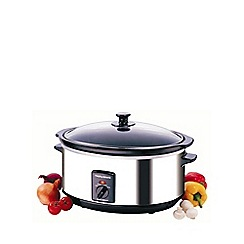 Morphy Richards - Oval 6.5l slow cooker - stainless steel 48715