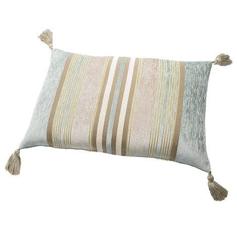 Debenhams - Blue +Stewart+ chenille striped cushion