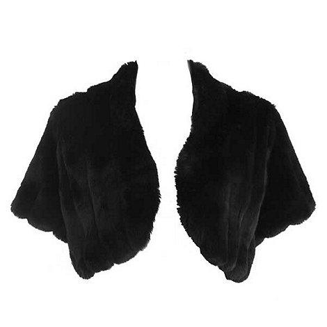 Debut - Black faux fur shrug