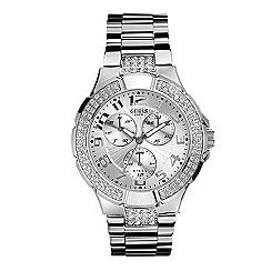Guess - Ladies round crystal dial and polished bracelet watch