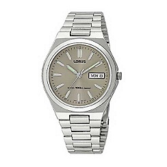 Lorus - Men's round dial with silver link bracelet watch