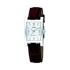Lorus - Ladies white dial with brown leather strap watch rrs91jx8