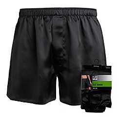 Thomas Nash - Black silk boxer shorts