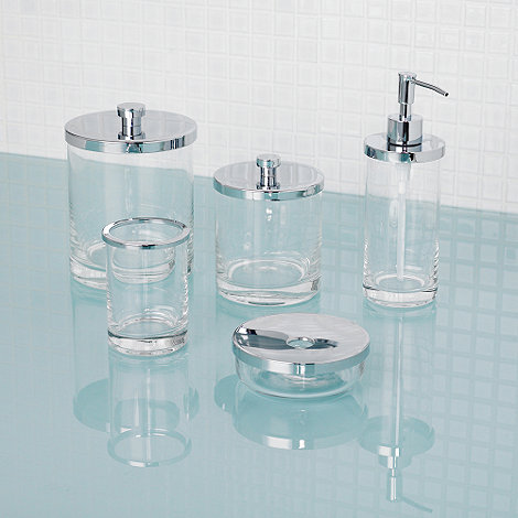 J by Jasper Conran - Glass bathroom accessories