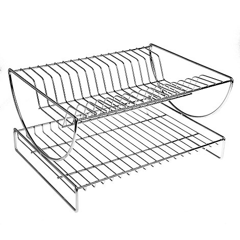Debenhams - Stainless steel 2 tier dish rack