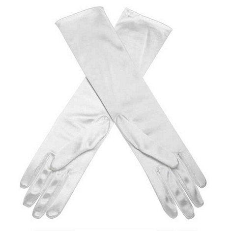 Debut - Ivory elbow length evening gloves