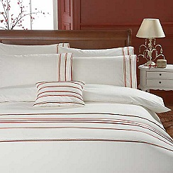 Debenhams - Cream 'Chelsea Striped' bed linen