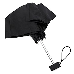Totes - Black thin, flat umbrella