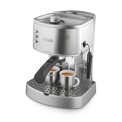 DeLonghi - Brushed stainless steel EC330S espresso coffee machine