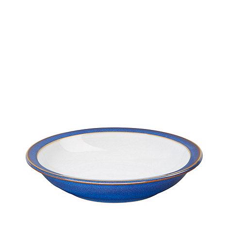 Denby - Glazed +Imperial Blue+ rimmed bowl