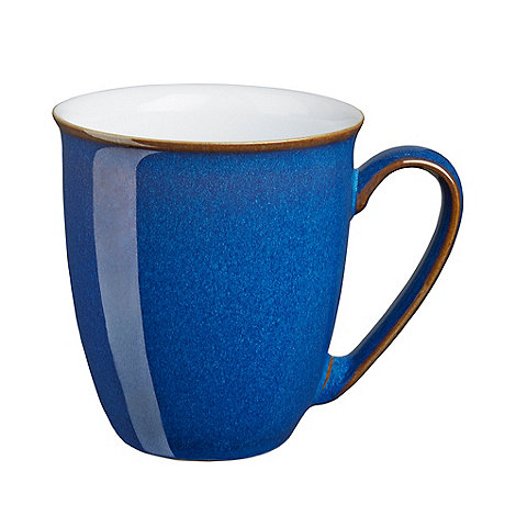 Denby - Glazed +Imperial Blue+ coffee mug