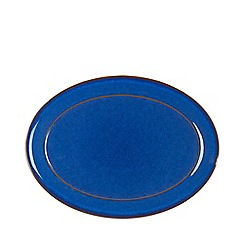 Denby - Glazed 'Imperial Blue' oval serving platter