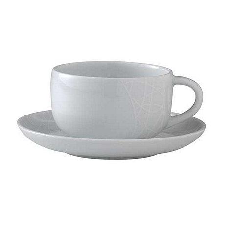 Jamie Oliver - White comfy tea cup/saucer