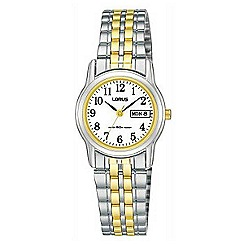 Lorus - Ladies white dial two tone bracelet watch