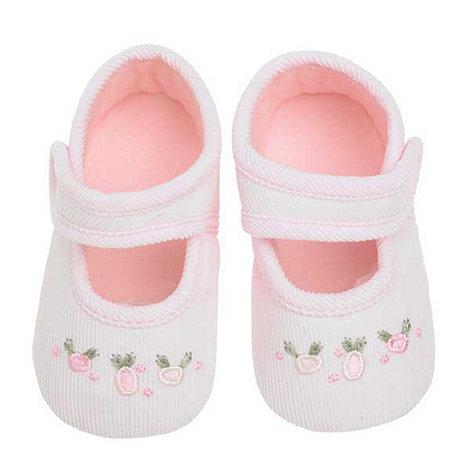 J by Jasper Conran - Designer Babies pale pink cord booties