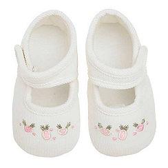 J by Jasper Conran - Designer Babies cream cord booties