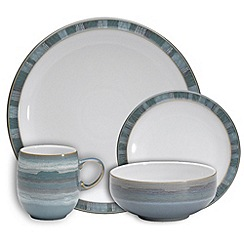 denby azure coast sixteen piece dinner set