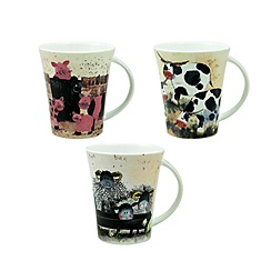 Queens by Churchill - Alex Clarke farmyard mug
