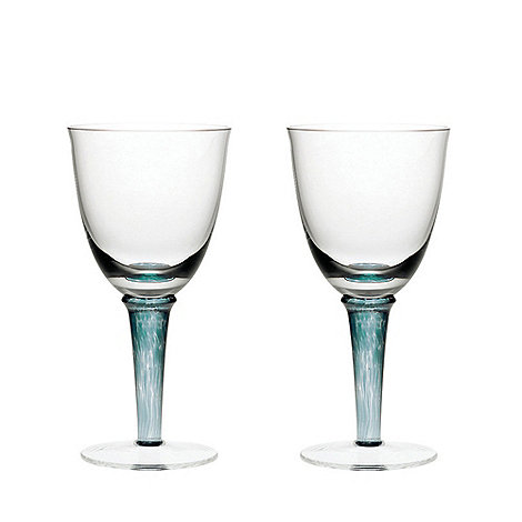 Denby - Greenwich/Regency green Set of two White wine glasses