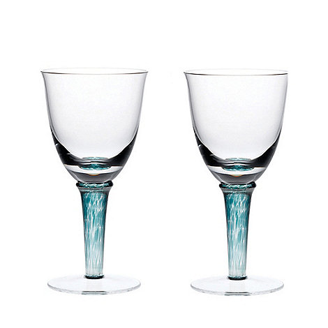 Denby - Greenwich/Regency green Set of two red wine glasses