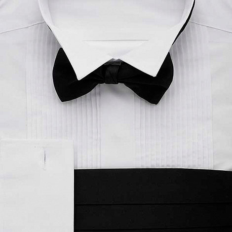 Thomas Nash - White regular fit long sleeve dress shirt