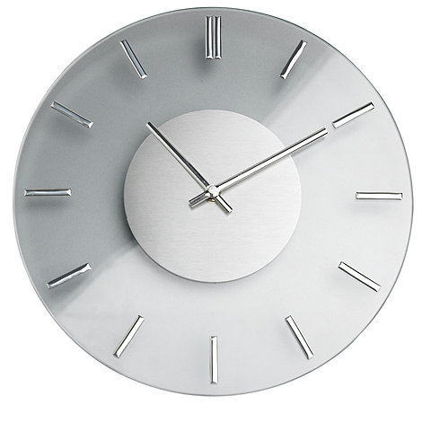 Debenhams - Chrome & glass wall clock