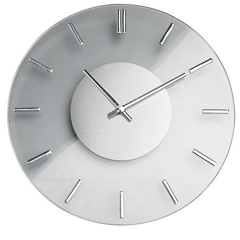 Debenhams - Chrome & glass wall clock