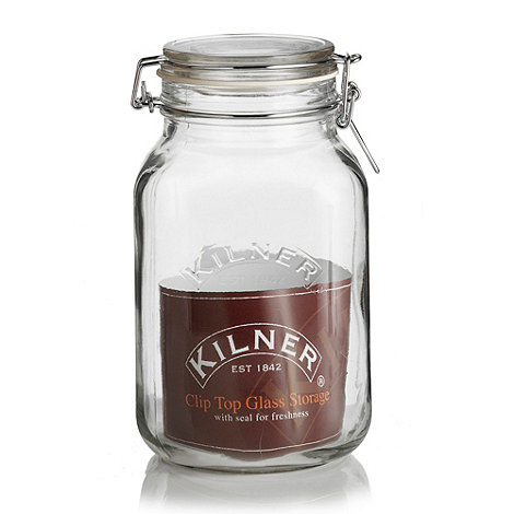 Kilner - Glass wide kilner cliptop storage