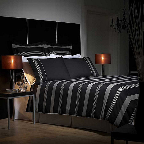 J by Jasper Conran - Black 'Park Avenue' bed linen